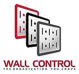 Wall Control Modular Pegboard Tool Organizer System - Wall-Mounted Metal Peg Board Tool Storage Unit for Pegboard Tiling