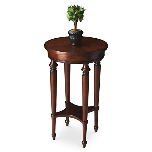 Tables - Winchester Accent Table - Round Table - Cherry Finish - Accent (Kensington Cherry Desk)