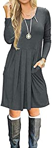 Giveaway: Basic Faith Women's Long Sleeve Pleated Loose Swing Casual…