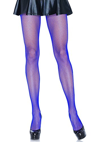 Leg Avenue Women's Spandex Fishnet Pantyhose, Royal Blue, One (Leg Avenue Spandex)
