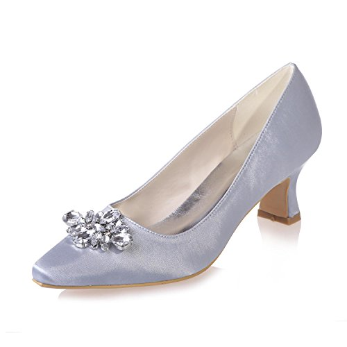 Zapatos Boda Apparel Night Para De tip Silver Professional 02 Office amp; yc Party 0723 L Mujeres 4wnFqH5tx