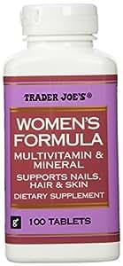 Amazon Com Trader Joe S Women S Formula Multivitamin