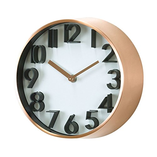 Time Concept Metal Wall Clock - Universal - Copper - 8