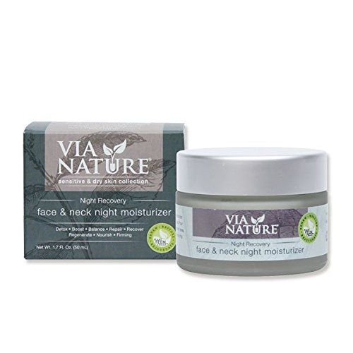 Recovery Lounge (Via Nature Face and Neck Moisturizer, Night Recovery, 1.7 Ounce)