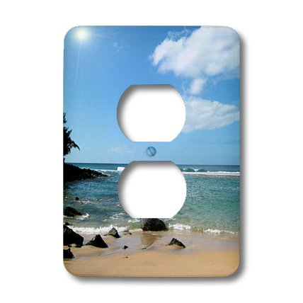 3dRose LLC lsp_22971_6 Hawaii Tropical Beach, 2 Plug Outlet Cover by 3dRose