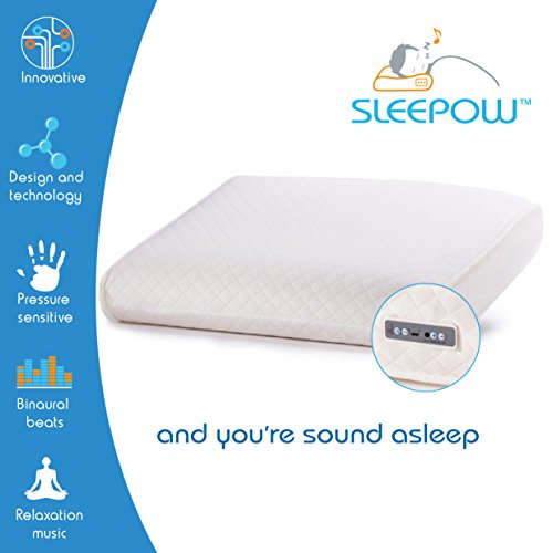 Sleepow Memory Foam Sound Therapy Pillow with MP3 / Sound Machine