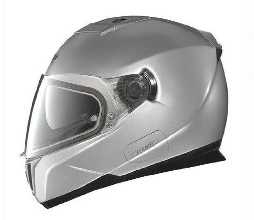 Nolan N86 Solid Colors Helmet (Platinum Silver, Large)
