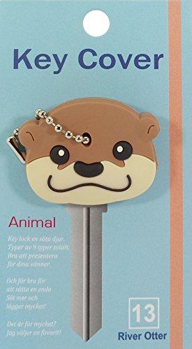 Key Cover / Key Caps / Key Holder / Keycaps - Cute Animal Pet Faces (River Otter)