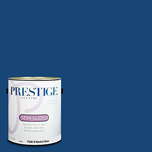 Prestige Paints P500-N-SW6811 Interior Paint and Primer in One, 1-Gallon, Semi-Gloss, Comparable Match of Sherwin Williams Honorable Blue, 1 Gallon, SW131-Honorable