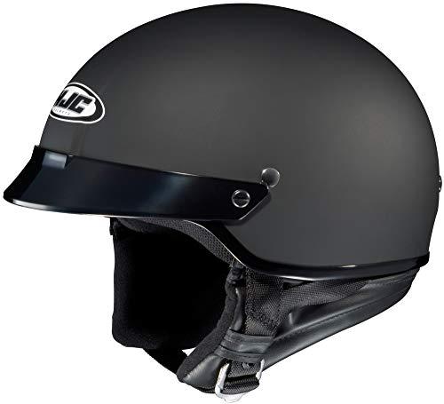 HJC CS-2N Matte Black Half Helmet with Hawk COM-2 Bluetooth Intercom Bundle - 2X-Large w/ COM-2 Intercom