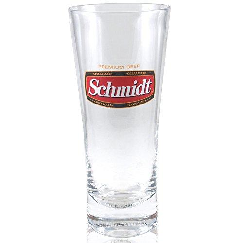 Flared Beer Pilsner Glass - Schmidt Beer Flared Pilsner Glass Officially Licensed, Set of 4
