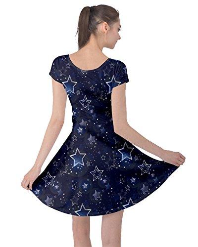 Short Sky Night Space Constellations Moon Stars Stars Sleeve Dress CowCow 5XL XS Blue Lightning Womens Hemisphere qz4nx15ETw