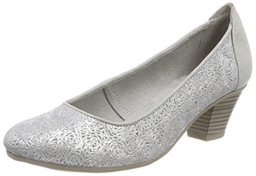 22304 Silver Grey Pumps Damen Jana Grau P1wqvAv6