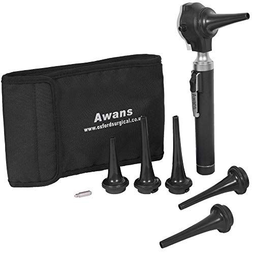 - Awans Veterinary Compact Pen Otoscope, Led Torch, with Spare Bulb and Accessories