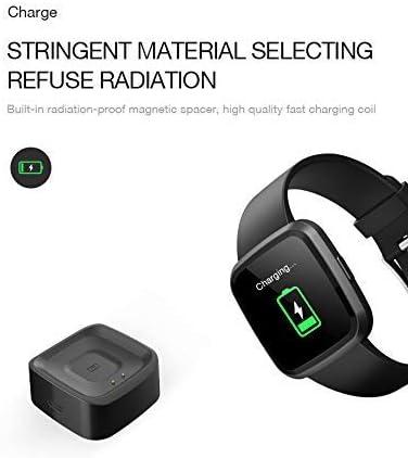 SMSTG 1,3 Pouce Plein Écran Tactile Femelle Imperméable Cardiaque Fréquence, Spo2 Montre Intelligente Anneau Noir