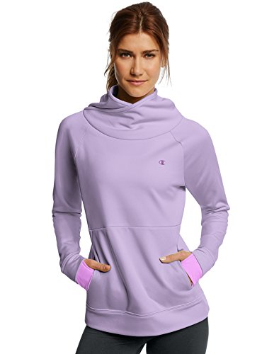 Champion Tech Fleece Funnel Neck Pullover, M, Lavendar Freeze