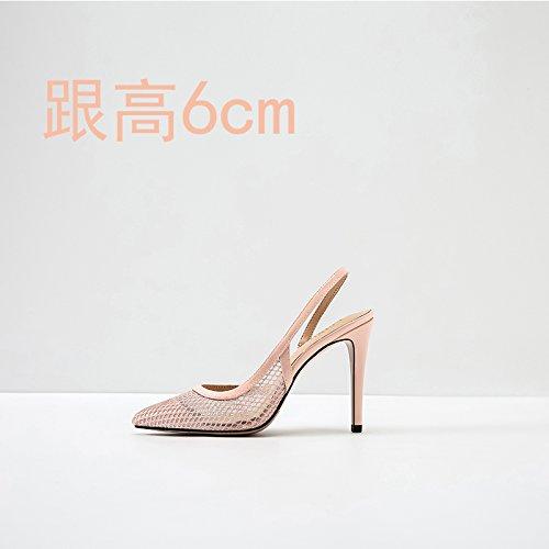 Lyserøde Højhælede Kvinder Oppustet Med Blonder Sandaler Vivioo Shoessummer Små 6cm Værfter Nøgne Den wP6E6T