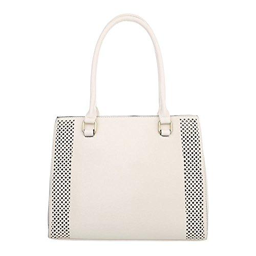 b1d53b2d5ba03 Damen Tasche Handtasche Schultertaschen Umhängetasche Shopper Tasche  Henkeltasche Beuteltasche Creme rA3Tl