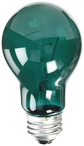 Westinghouse 0344400, 25 Watt, 120 Volt Trans Green Incandescent A19 Light Bulb - 2500 Hours