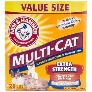 ARM & HAMMER CAT LITTER 718516 2-Pack Multicat Strength Clumping Litter for Pets, 20-Pound