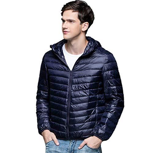 Leggero L'inverno Sottile Riscaldamento Trapuntato Tasche Maschile Autunno Streetwear Cappuccio Con Cappotto Marino Con E Rm Piumino Ultra tPnxfXqZTw