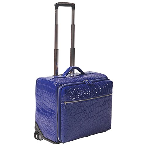 Ouul-Alligator-Embossed-Faux-Leather-18-inch-Rolling-Carry-On-Suitcase