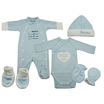 f0d16890dbb80 Bb and co - Vêtement bébé: Trousseau naissance garço, bleu, bio Couleur -