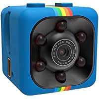 Borme Mini DV Camera Spy Camera Hidden Camera With Night Vision 1080P Full HD Car DVR Recorder Motion (Blue)