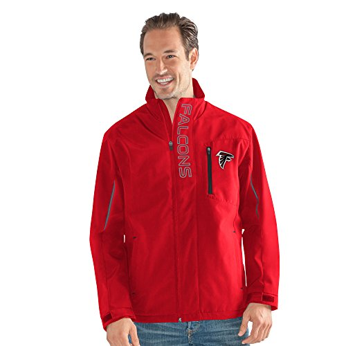 Energy Sports - G-III Sports NFL Atlanta Falcons Adult Men Energy Soft Shell Full Zip Jacket, Large, Red