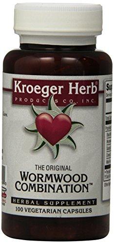 Kroeger Capsules Herb 100 (Kroeger Herb Wormwood Combination Vegetarian Capsules, 100 Count)