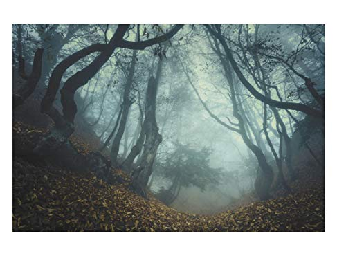 thaisan7, Halloween Haunted Forest Backdrop Wall Banner Photo Prop Decoration 9ft x 6ft]()