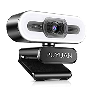 Flashandfocus.com 41UuvCVH2yL._SS300_ PUYUAN 2K HD Web Camera, HD Webcam with Dual Stereo Microphones and Ring Lights,USB Webcam for Desktop or Laptop, USB PC…
