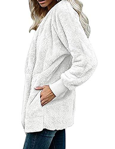 Large Femme Longues Grande Taille Avec Blanc S Manches En Blouson Douce Fourrure Serface Hiver Capuche 5xl Cardigan Veste À 0O5SqWw