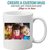 Marvelous Printing Next Day Print Personalized White Custom Mug w Free Shipping