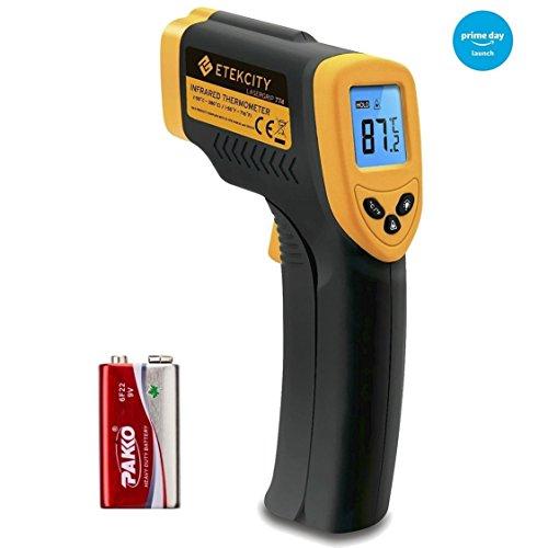 Etekcity Lasergrip 774 - Pistola Térmometro Láser Infrarojo sin contacto (-50°C a 380°C), Amarillo y Negro