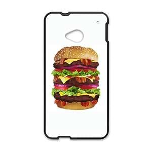 HTC One M7 Cell Phone Case Black Cheeseburger KYS1129028KSL