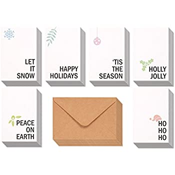 Amazon 48 pack merry christmas greeting cards bulk box set 48 pack merry christmas greeting cards bulk box set winter holiday xmas greeting cards m4hsunfo