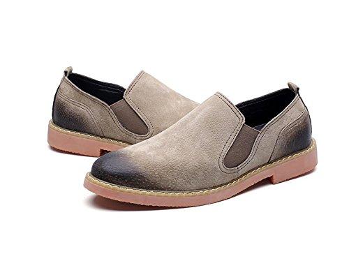 de Chaussures mettent Le Fond Nouveaux Koyi Les Affaires Hommes de Doux Kaki Occasionnels Cuir de Chaussures Formel Printemps Occasionnel PS87PqB