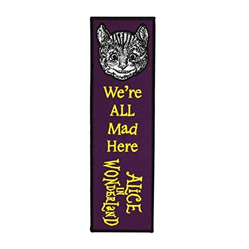 Bookmark Sew-On Patch Purple ''Alice in Wonderland'' Cheshire Cat Reading Craft by Mia_you