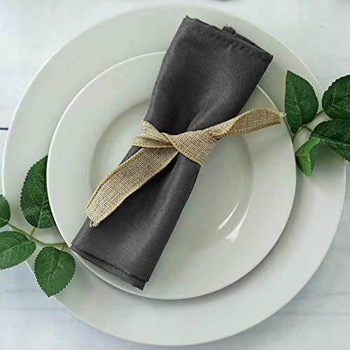 Mikash 20 Polyester Fabric Napkins Wedding Party Dinner Kitchen Table Decorations | Model WDDNGDCRTN - 5093 | 100 pcs]()