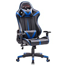 Top Gamer Gaming Chair High Back PC Computer Game Chair Office Chairs for Video Game (Blue/Black,92N)