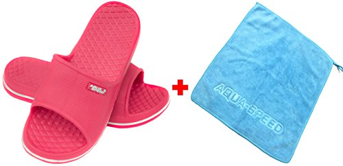 Pantofole Asciugamano Sandali da bagno Shower Set Cordoba Kinder 03 Speed in Beach Aqua microfibra Bq148