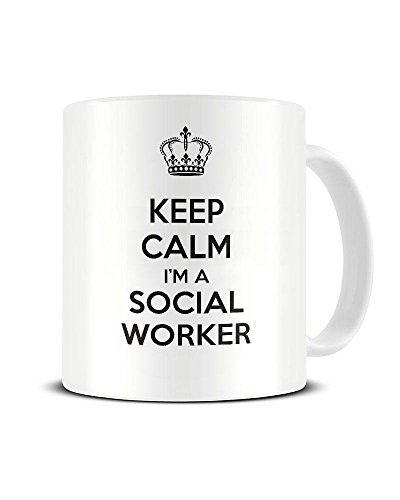 Amazoncom Hiusan Keep Calm Im A Social Worker Carry On Funny