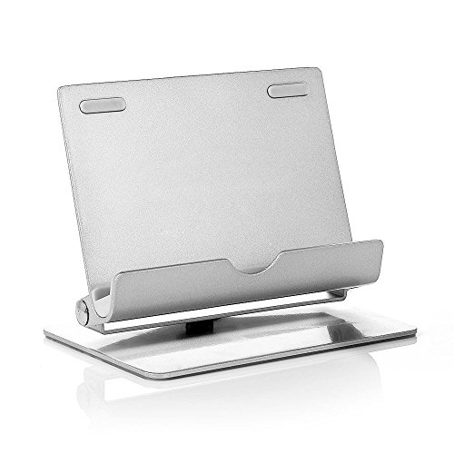Tmvel 360-Multi-Angle Portable Stand for Tablet and Smartphones 7-10 inches - Retail Packaging - Sliver