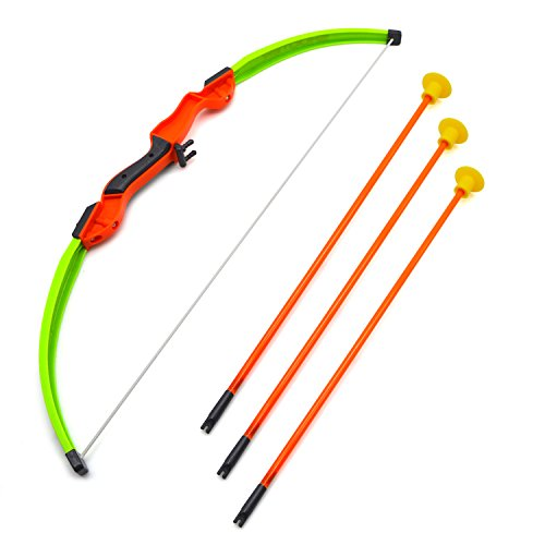 JellyDog Toy Bow, Sport Event Shooting Game, Archery Velocity Toys Shooter Bow with Arrows and Quiver, Children's Toy Crossbow Dart Play Set for Girls Kids, Green (Archery Targets Dartboard)