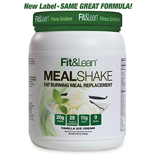 Fit & Lean Fat Burning Meal Replacement, Vanilla, 0.97 lb (Best Organic Protein Powder To Lose Weight)