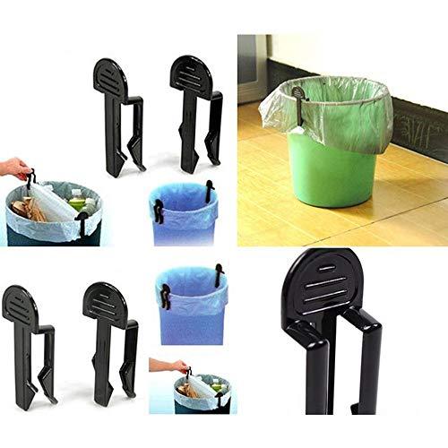 Elevin(TM)  2Pcs Kitchen Trash Garbage Bag Dustbin Waste Bin Can Holder Fixed Clip Clamp