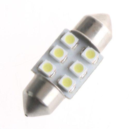 Kingzer NEW 31mm 1210 6 SMD LED White Car Interior Light Dome Festoon Lamp Bulbs DC 12V from KINGZER