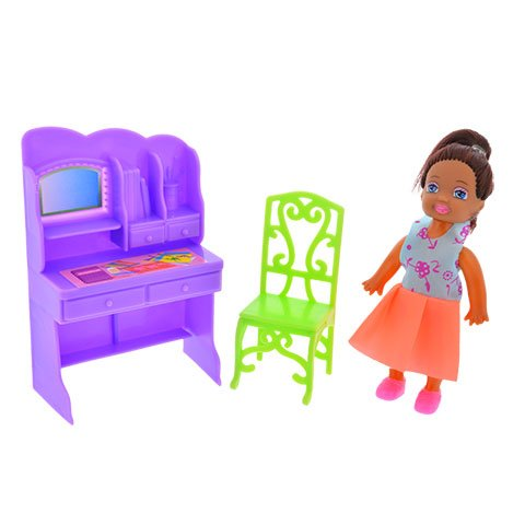 kids party 2 Dollhouse Furniture Sets African American Doll Baby Doll Toy Included.