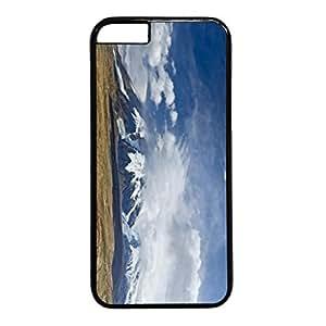 Snow Mountain Personalized Design Black PC Case for Iphone 6 Cloud wangjiang maoyi